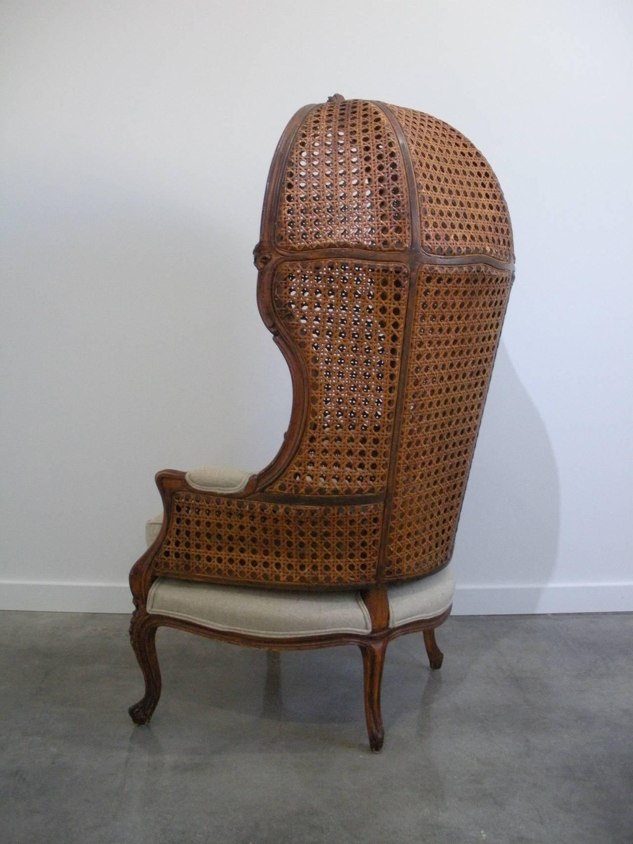 Louis Xv Style Porter Chair With French Caning At 1stdibs