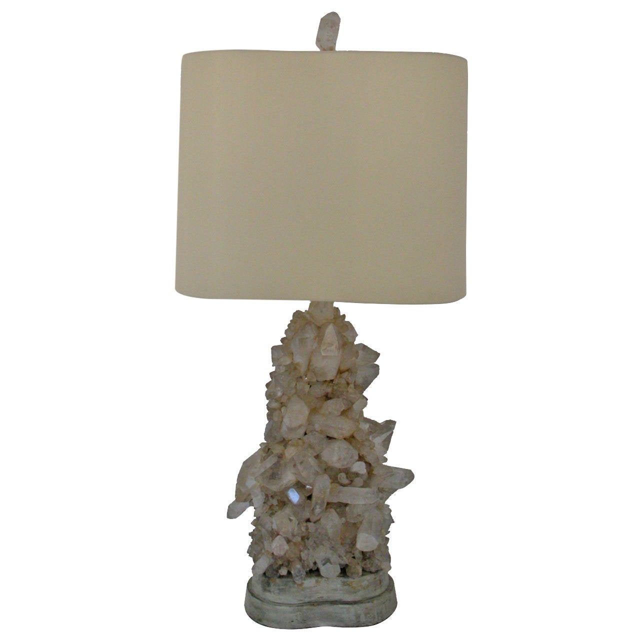 Carole stupell rock crystal lamp 1950 at 1stdibs for Rock lamp