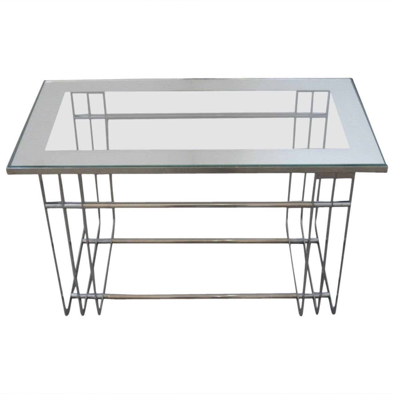 American art deco chrome cocktail table in the style of donald american art deco chrome cocktail table in the style of donald deskey 1930s 1 geotapseo Gallery