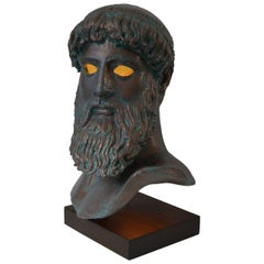 """Illuminated-Sculpture of the """"Artemision Zeus"""" or """"God from the Sea"""": Modern"""