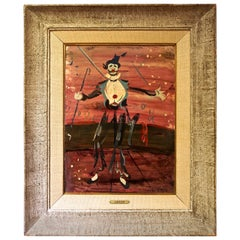 Mid-Century Oil Painting by Iconic French Painter Charles Levier