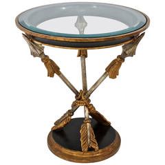 19th Century Style Italian Occasional Table with Crossed-Arrow Motif