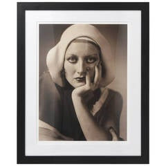 Large Scale, Framed Archival Pigment Print of Joan Crawford:  George Hurrell 193