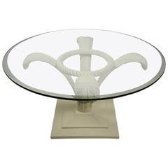 Hollywood Regency Prince of Wales Plume Cocktail Table:  Grosfeld House