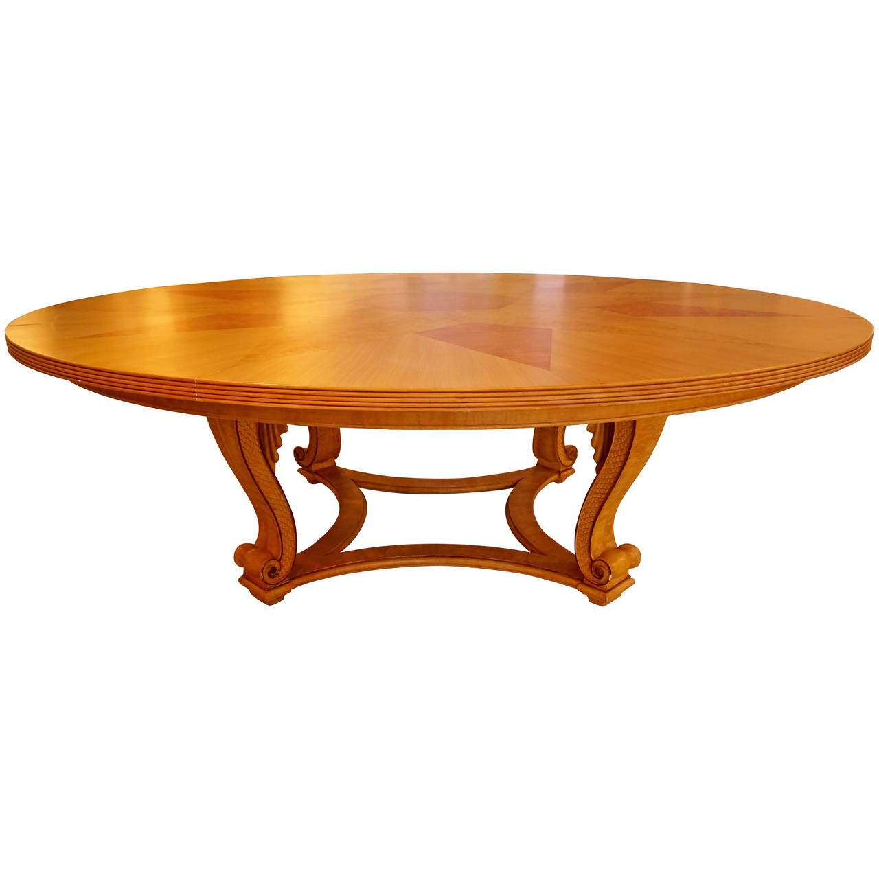 Louis xv style round dining table with faux finish at 1stdibs for Stylish round dining table