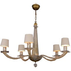 Five-Light Murano Glass Chandelier by Angelo Donghia, 1980s
