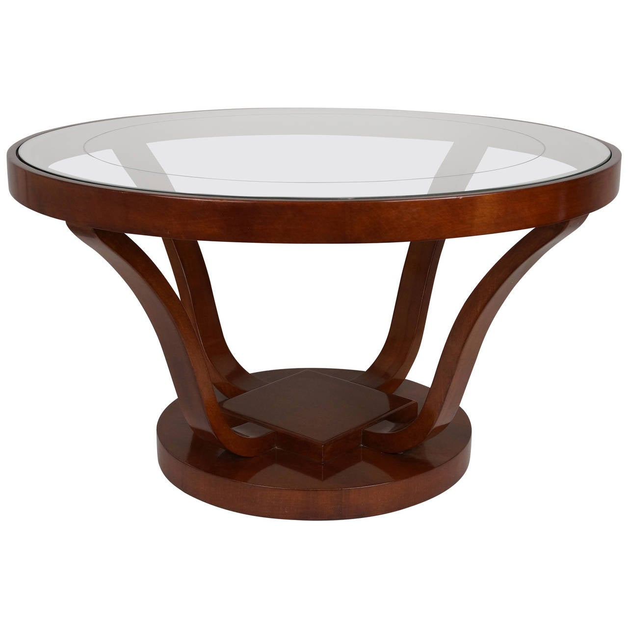 Art deco style round cocktail or coffee table by brown saltman of california at 1stdibs - Archives departementales 33 tables decennales ...