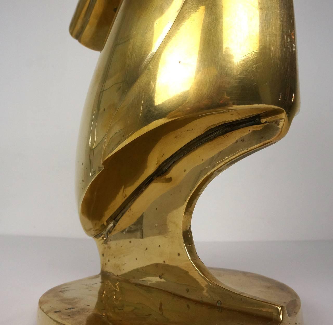 Art Deco Style Sculpture of a Gazelle / Antelope in Cast Brass, Mid-Century 3