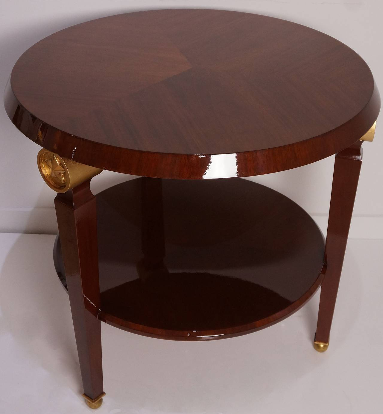 Empire Two-Tiered Center Table in the Style of Maison Jansen, France, 1960s  For Sale