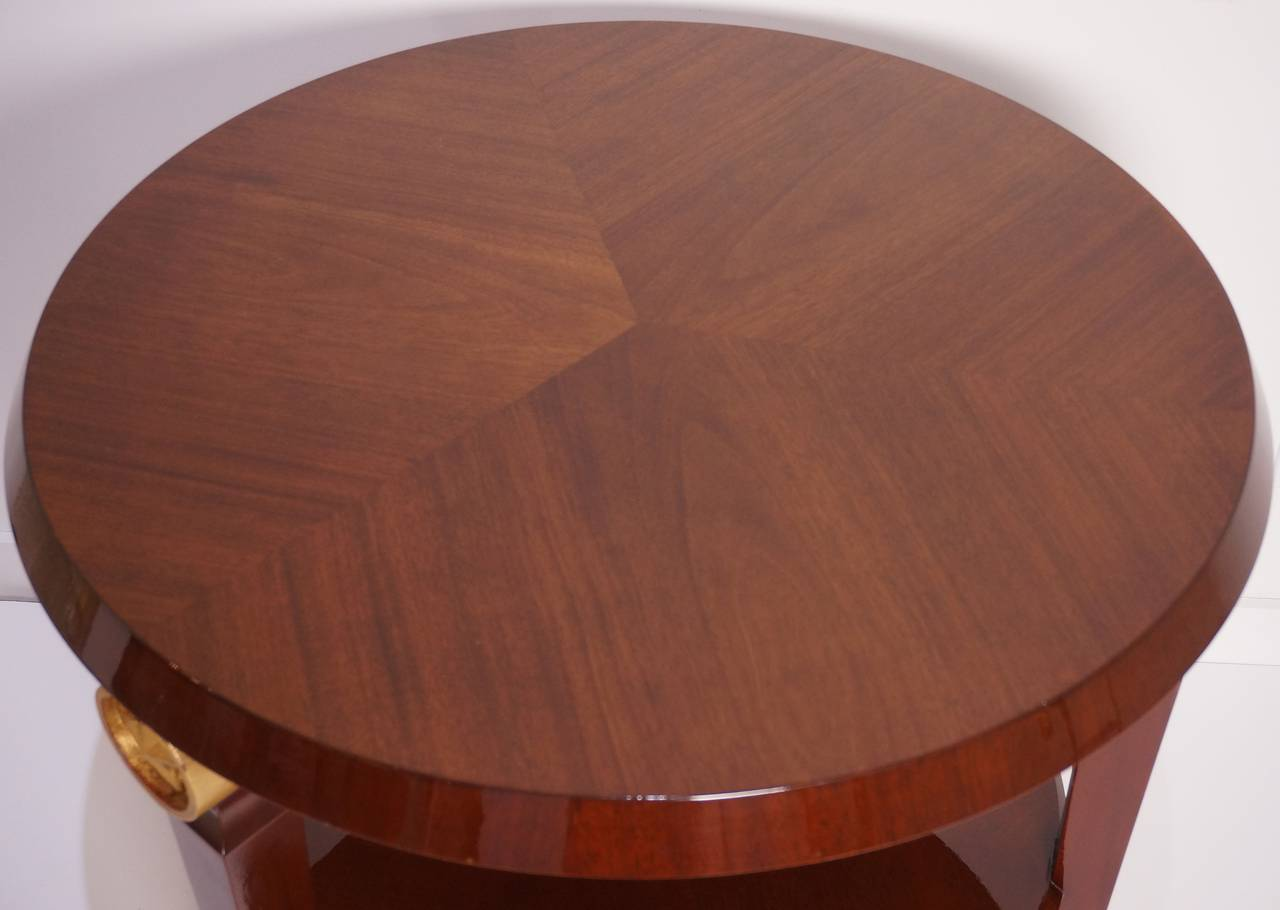 French Two-Tiered Center Table in the Style of Maison Jansen, France, 1960s  For Sale