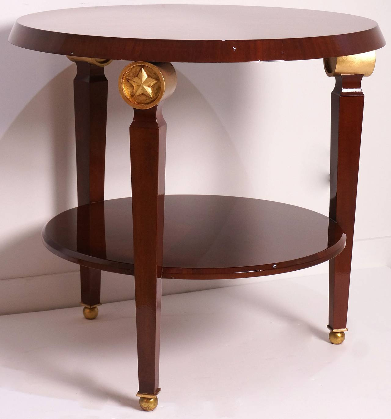 Two-Tiered Center Table in the Style of Maison Jansen, France, 1960s  For Sale 3