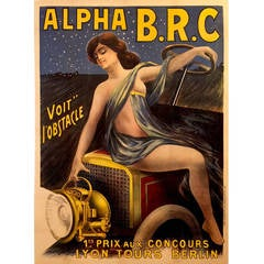 Rare French Art Nouveau Period Advertising Poster by Philippe Chapellier