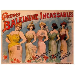 Belle Époque Period French Poster for Corsets Baleinine by Alfred Choubrac