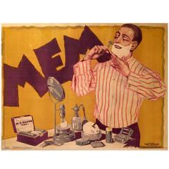 Austrian Art Nouveau Period Poster for Men's Shaving Cream by Hans Neumann, 1920