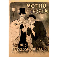 Original Mothu et Doria Poster by Theophile Steinlen, 1893