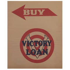 Early 20th Century American Government Victory Loan Advertising Poster, 1918