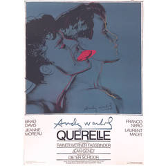 German Pop Period Movie Poster for Querelle 'Blue' by Andy Warhol, 1982