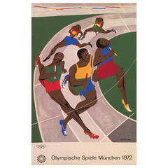 Jacob Lawrence for 1972 Olympics in Munich Silkscreen Poster