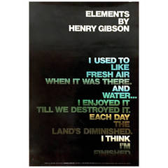 Modern Period American Environmental Poster with Poem by Henry Gibson, 1970