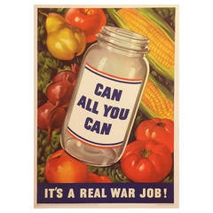 "American Government Poster ""Can All You Can, It's a War Effort!"" 1943"