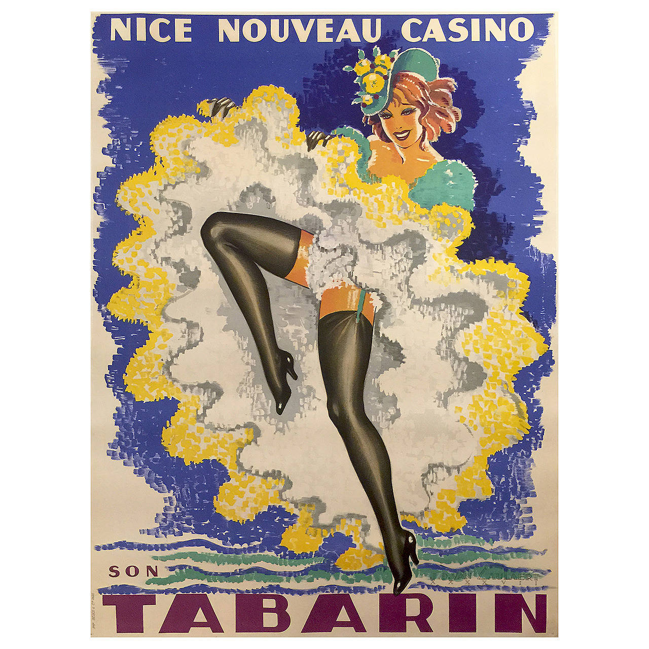Art Deco Posters: French Art Deco Period Advertising Poster For The Tabarin