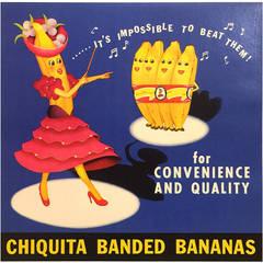 American Mid-Century Modern Period Chiquita Banana Poster, 1955