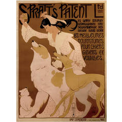 "French Art Nouveau Period Advertising Poster for ""Spratt's Patent Ltd.,"" 1909"