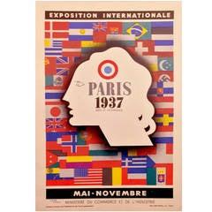 Art Deco Period International Exposition in Paris 1937 Poster by Jean Carlu