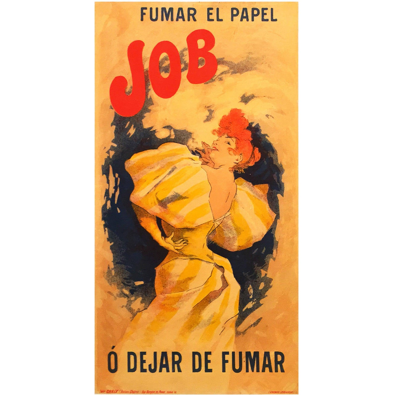 French Belle Époque Period Poster for Job by Jules Chéret, 1895