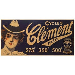 French Art Nouveau Period Poser for Cycles Clement by Charles Tichon, 1890s