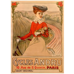 French Belle Époque Period Poster for Bicycles, 1890s