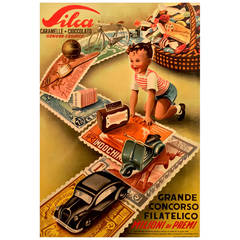 Italian Mid-Century Modern Period Poster for Silca