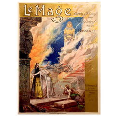French Belle Epoque Period Poster for Le Mage Opera, 1891