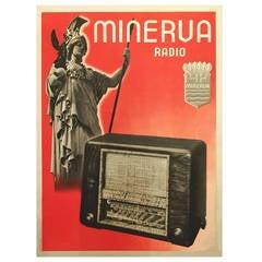 Mid-Century Modern Period Poster for Minerva Radio