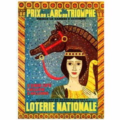 Mid-Century Modern Period French Poster for the National Lottery