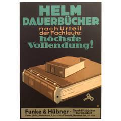 German Advertising Poster for Helm Dauerbucher by Oppenheim, 1910s