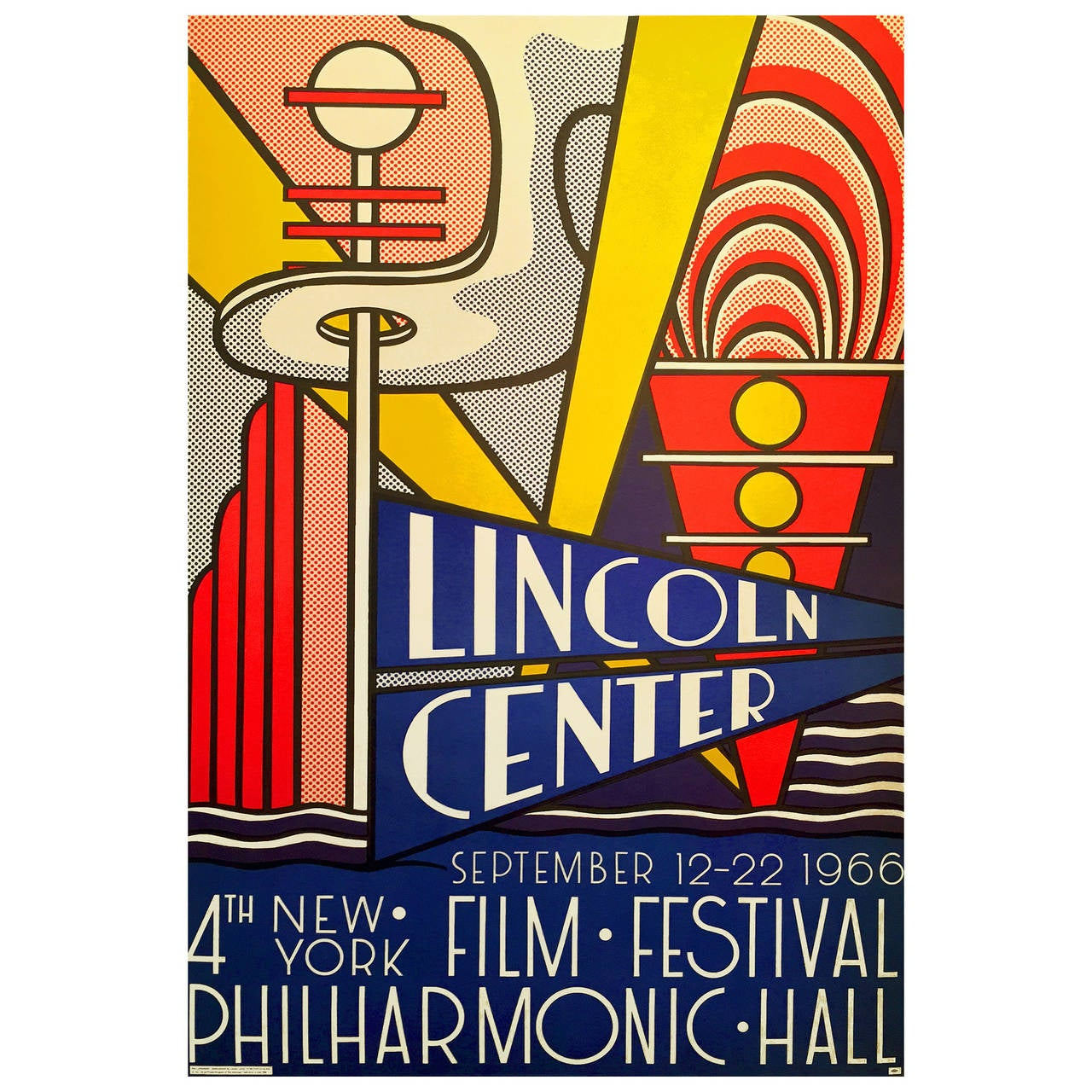 Pop art poster 4th new york film festival at lincoln for Poster roy lichtenstein