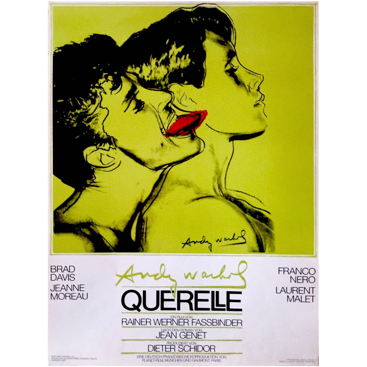 German Pop Period Movie Poster for Querelle 'Green' by Andy Warhol, 1982