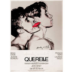 German Pop Period Movie Poster for Querelle 'White' by Andy Warhol, 1982