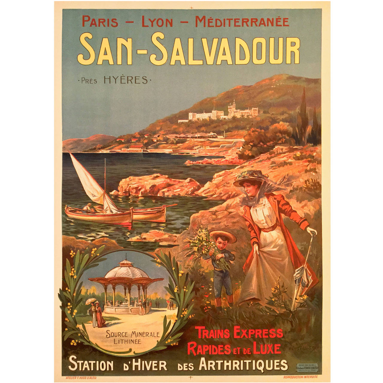 Art Nouveau Period French Travel Poster for San Salvador ...