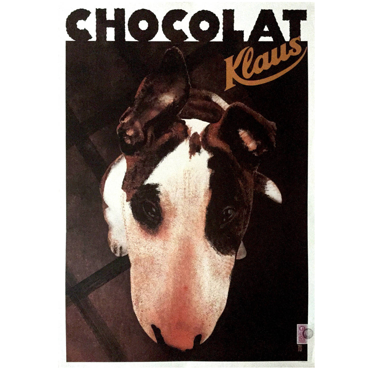 Modern French Poster for Chocolat Klaus Chocolate by Philippe Sommer