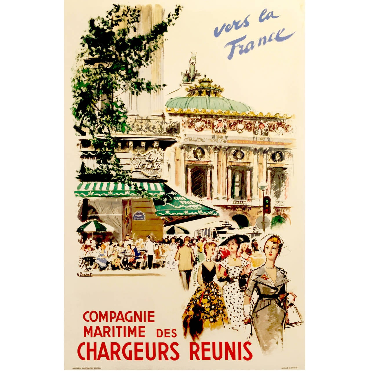 Mid-Century Modern Period French Advertising Poster, \