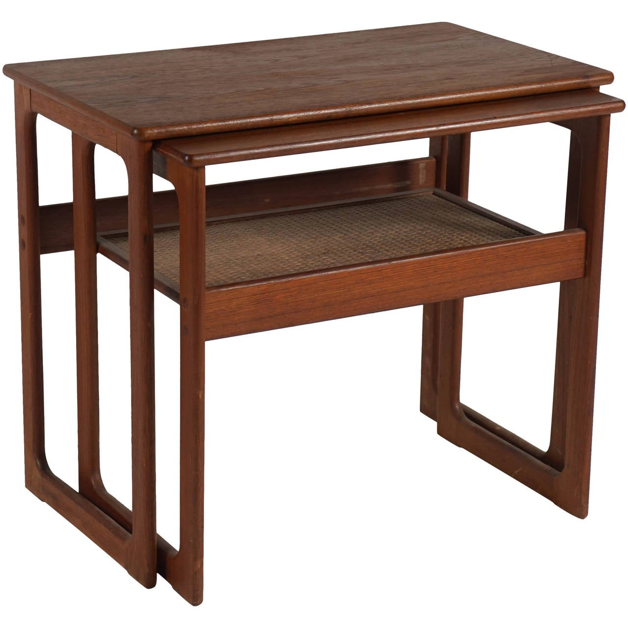 Teak Nesting Tables ~ Set of teak nesting tables by silkeborg at stdibs