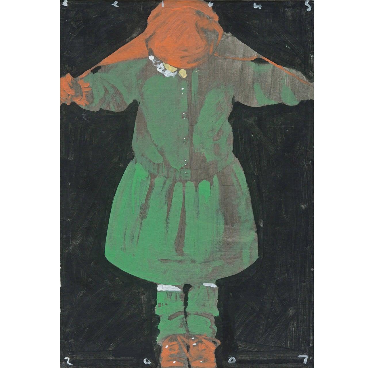 """Mykola Bilous, """"Dancing Girl,"""" Oil on Canvas, 2007"""