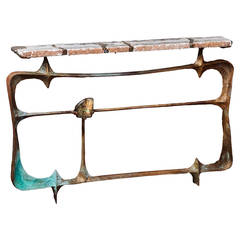 Brazier-Jones 2014 Agate Labradorite Console Table
