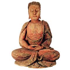 Important Ancient Chinese Seated shakyamuni Meditation Buddha Ming dyn 1368-1644