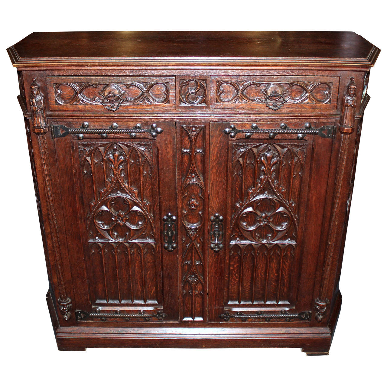 Early 20th Century French Gothic Revival Cabinet At 1stdibs