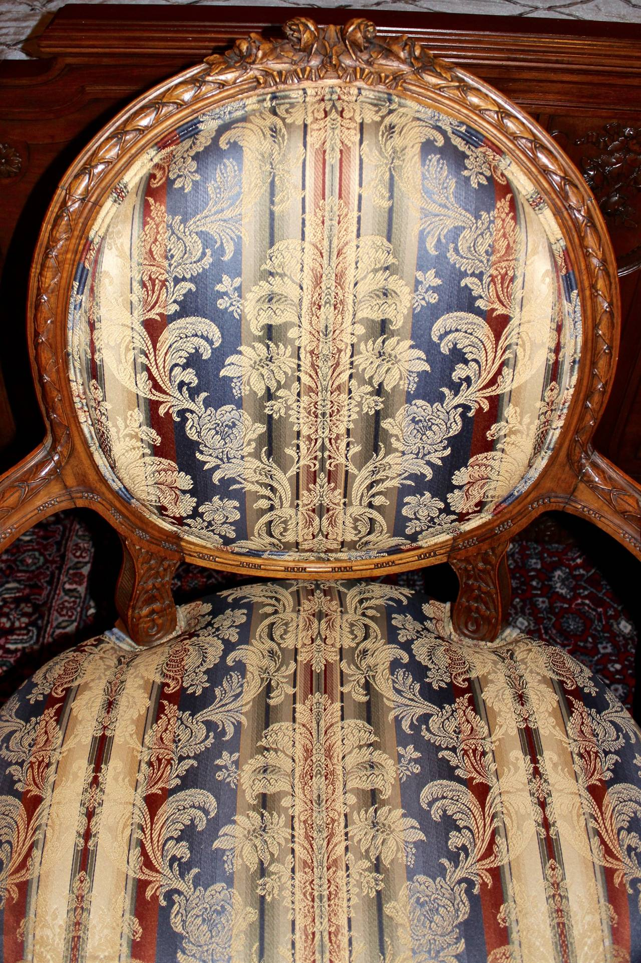 20th Century Pair of French Louis XVI Style Armchairs For Sale