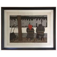 Wood Block Print by Kiyoshi Saito