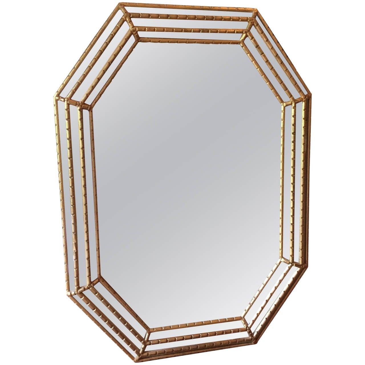 La Barge Giltwood Faux Bamboo Mirror